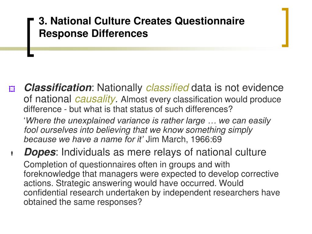3. National Culture Creates Questionnaire Response Differences