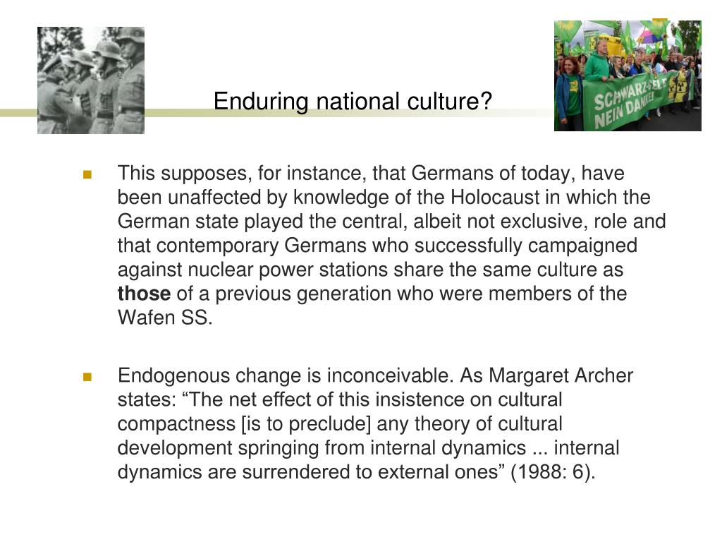 Enduring national culture?