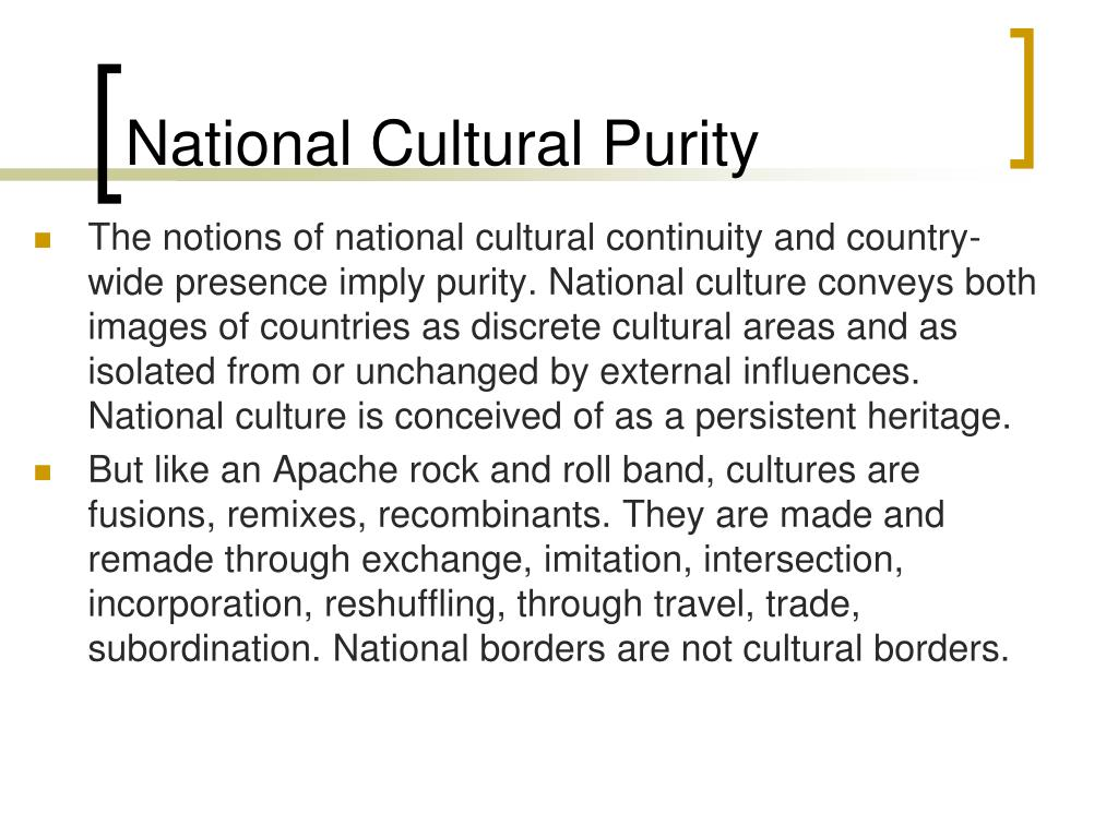 National Cultural Purity