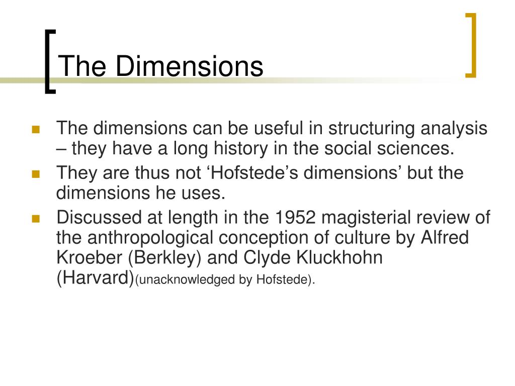 The Dimensions
