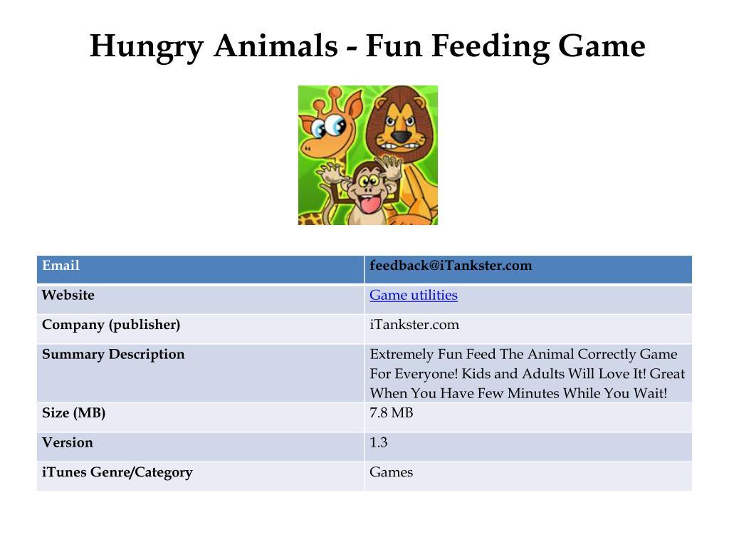 hungry animals fun feeding game l.