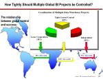 how tightly should multiple global bi projects be controlled