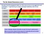 the six global dimensions cont