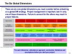 the six global dimensions