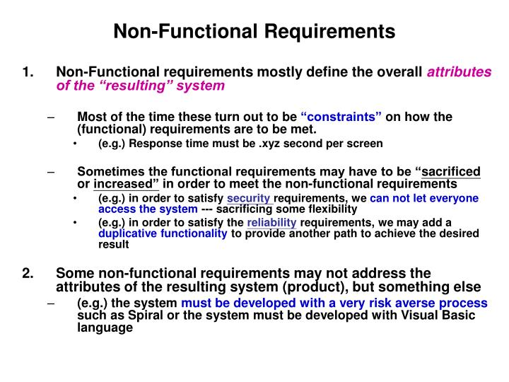 Ppt Non Functional Requirements Powerpoint Presentation