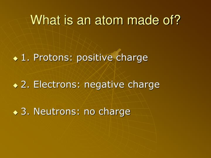 What is an atom made of