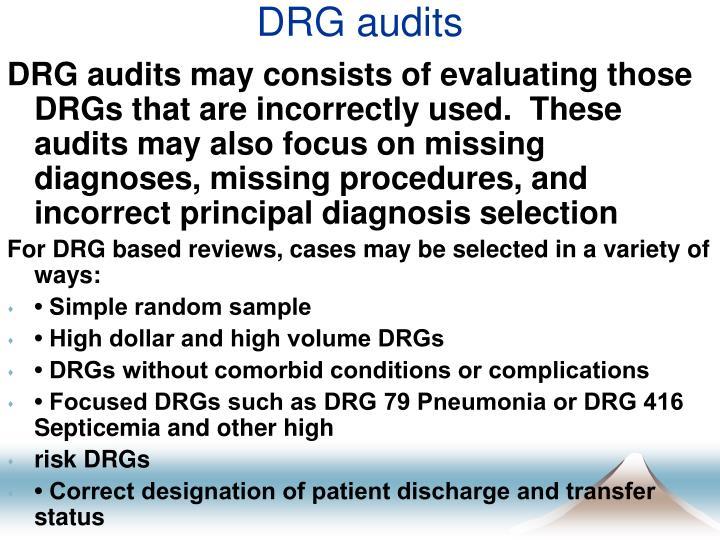 DRG audits