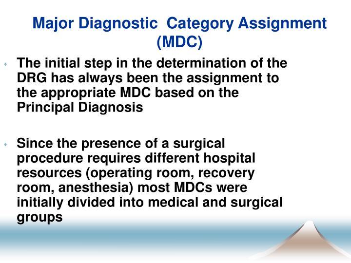 Major Diagnostic  Category Assignment