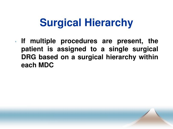 Surgical Hierarchy
