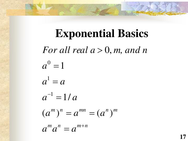 Exponential Basics