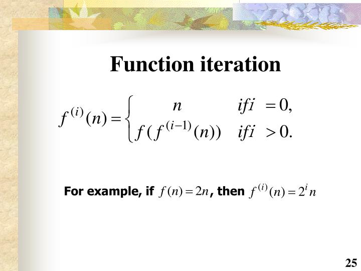 Function iteration