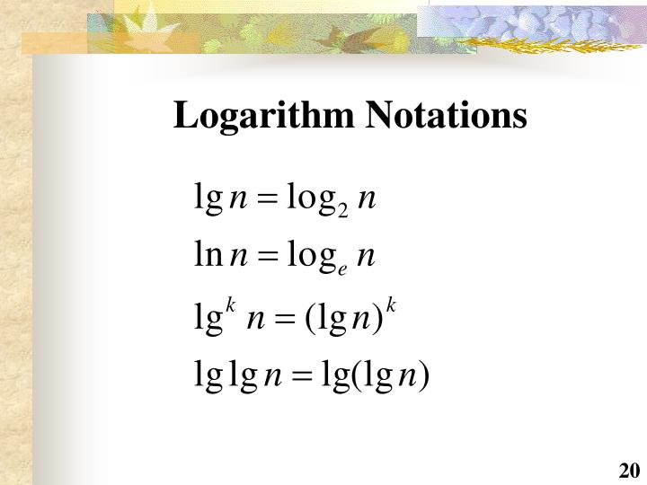 Logarithm Notations