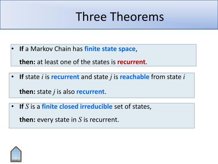 Three Theorems