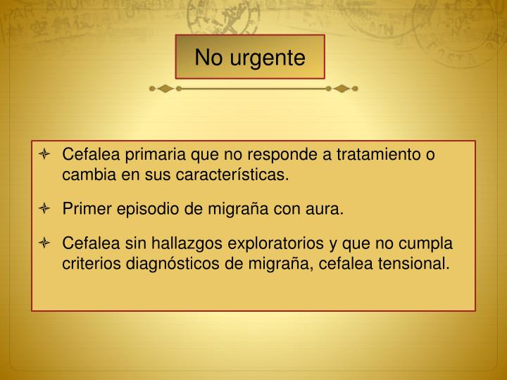 No urgente