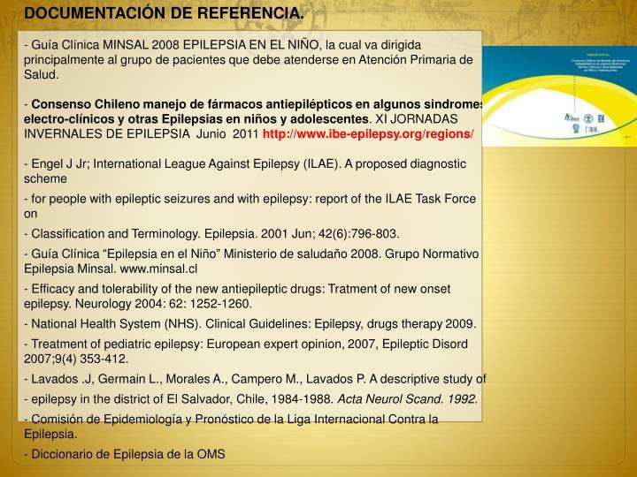 DOCUMENTACIÓN DE REFERENCIA.