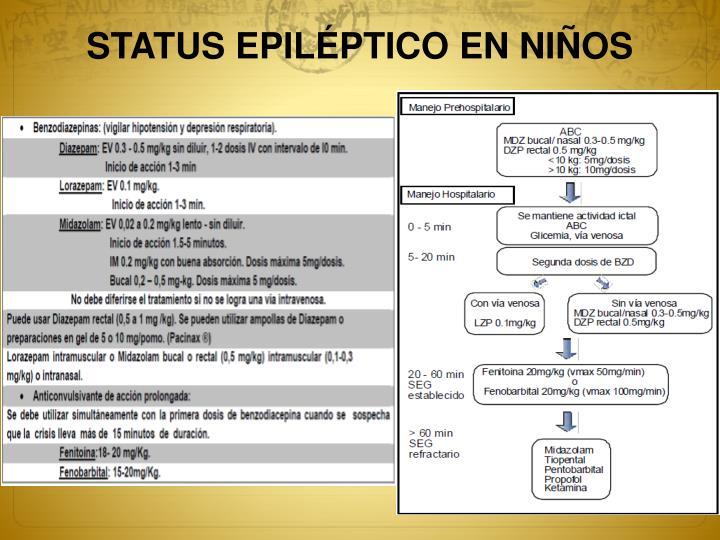 STATUS EPILÉPTICO EN NIÑOS