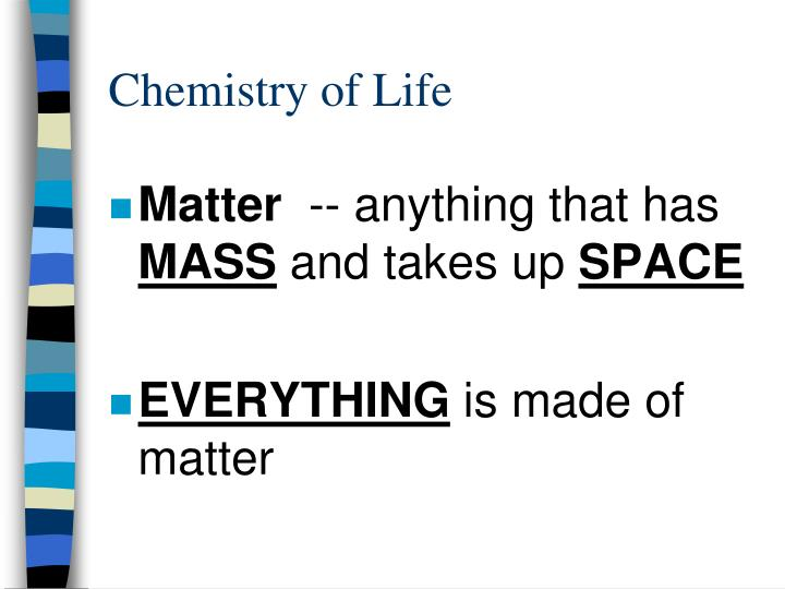 Chemistry of life1