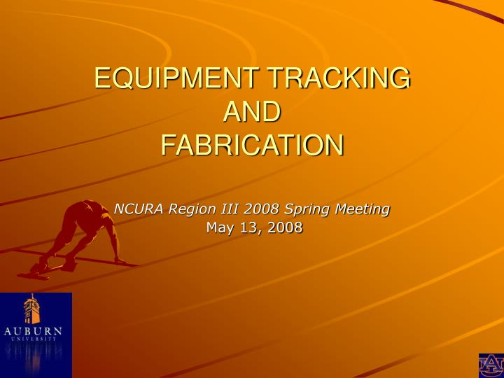 equipment tracking and fabrication n.