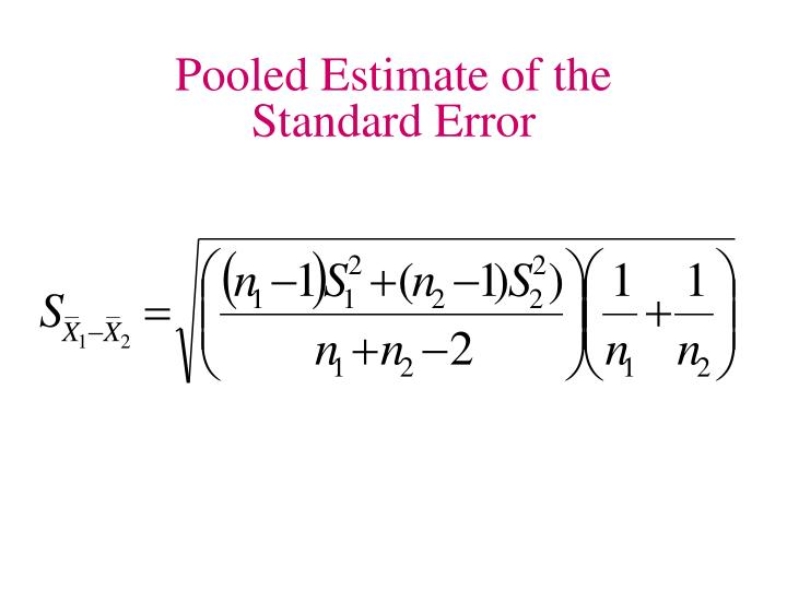 Pooled Estimate of the