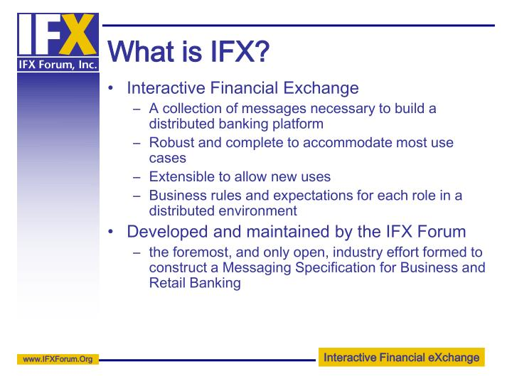 What is IFX?