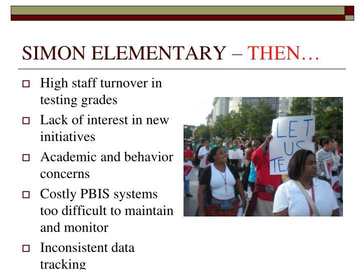 Simon elementary then