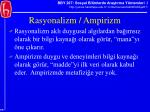 rasyonalizm ampirizm