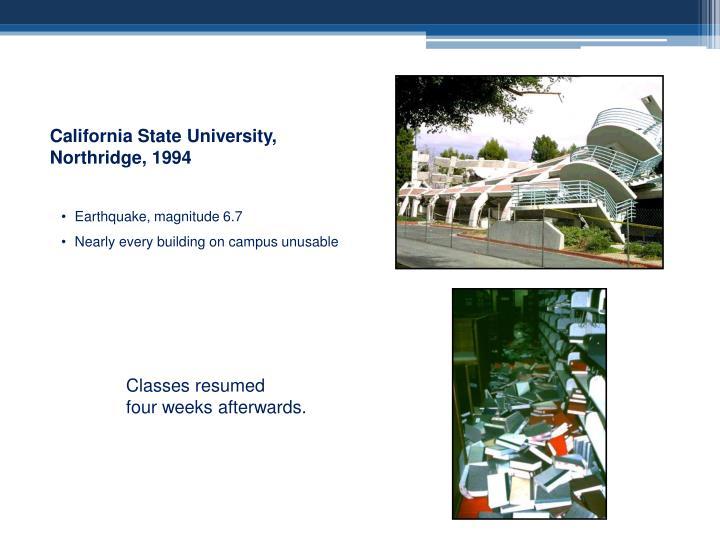 California State University, Northridge, 1994