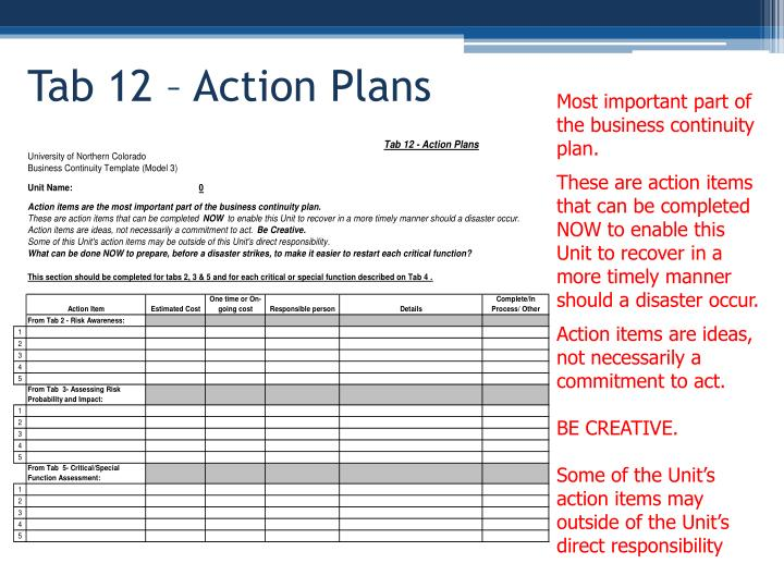 Most important part of the business continuity plan.