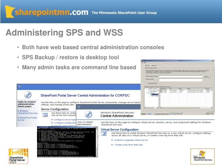 Administering SPS and WSS