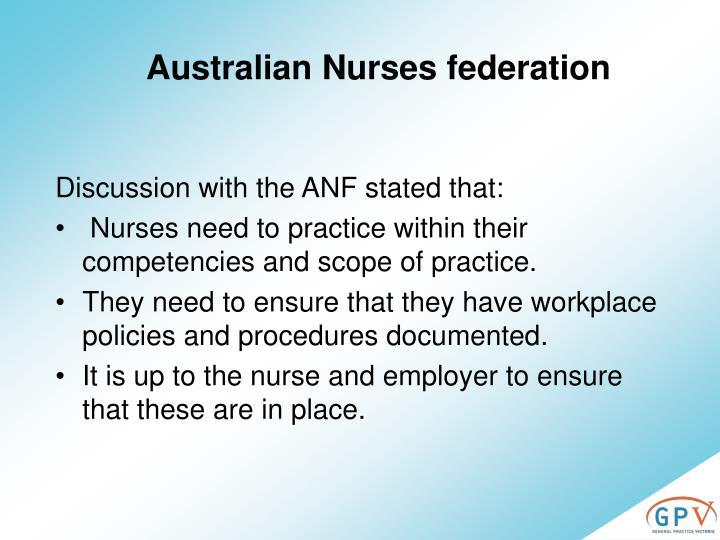 Australian Nurses federation