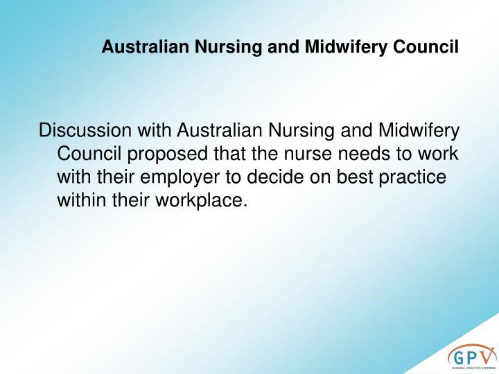 Australian Nursing and Midwifery Council
