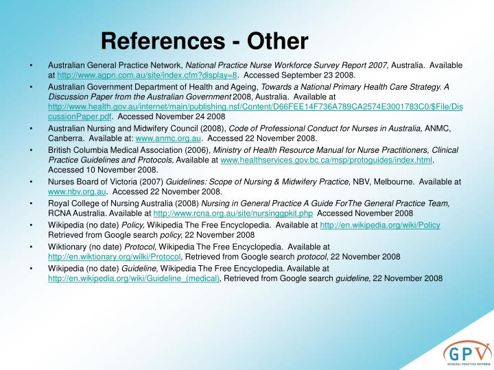 References - Other