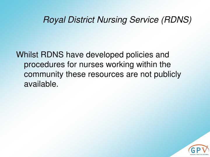 Royal District Nursing Service (RDNS)