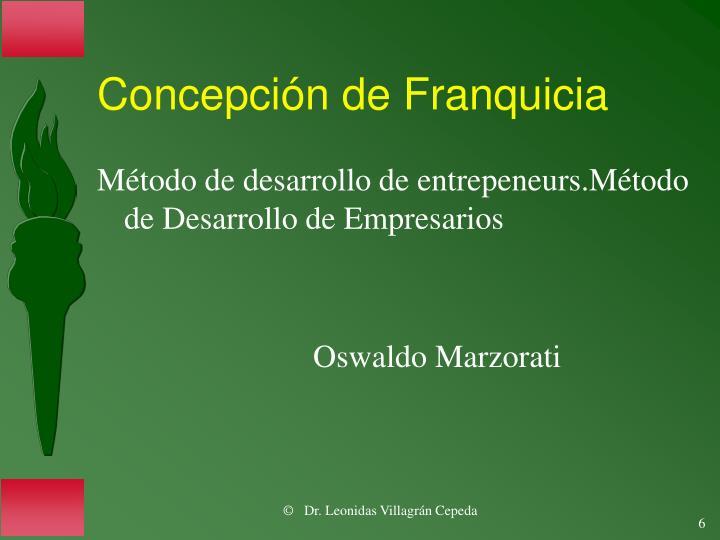 Concepción de Franquicia