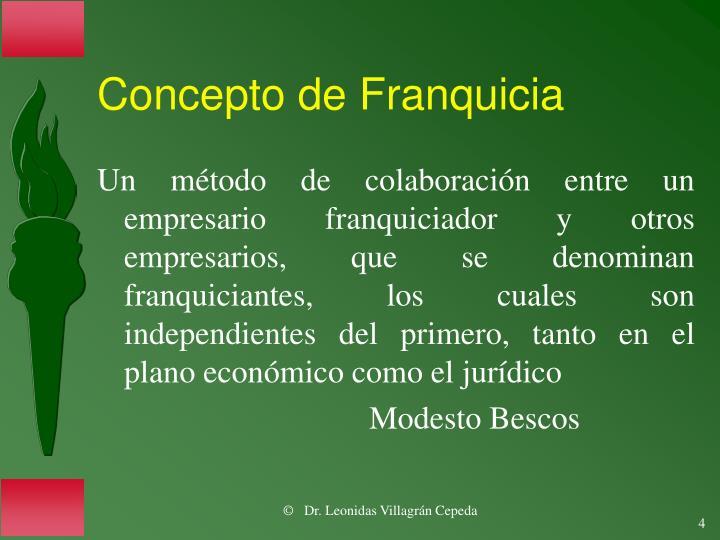 Concepto de Franquicia