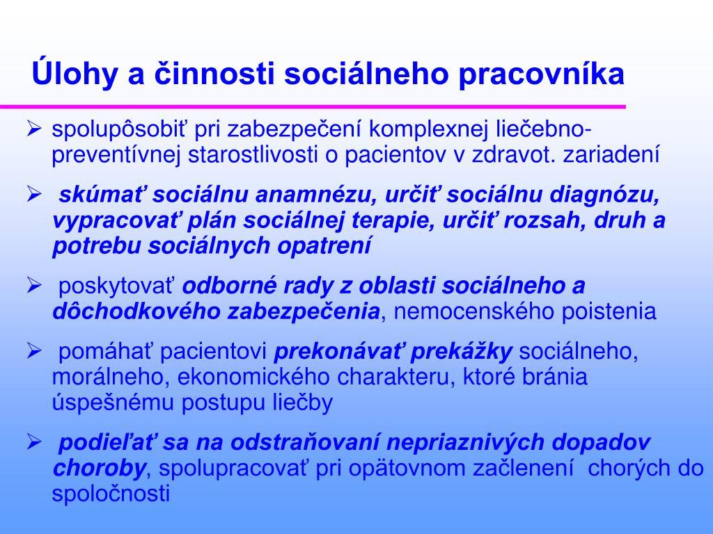 Datovania pre sociálnych pracovníkov