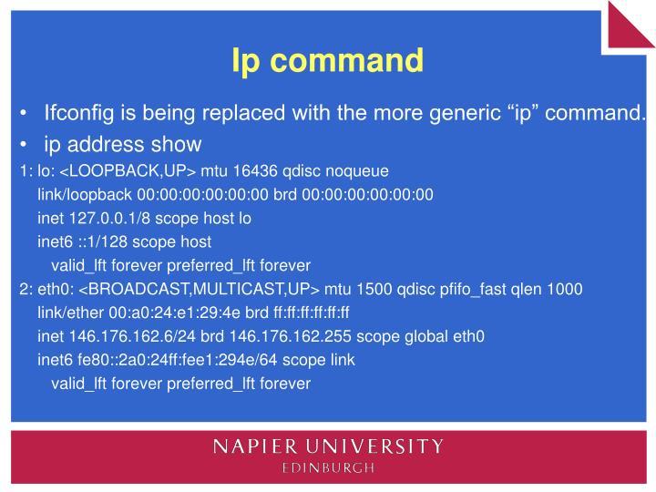 Ip command