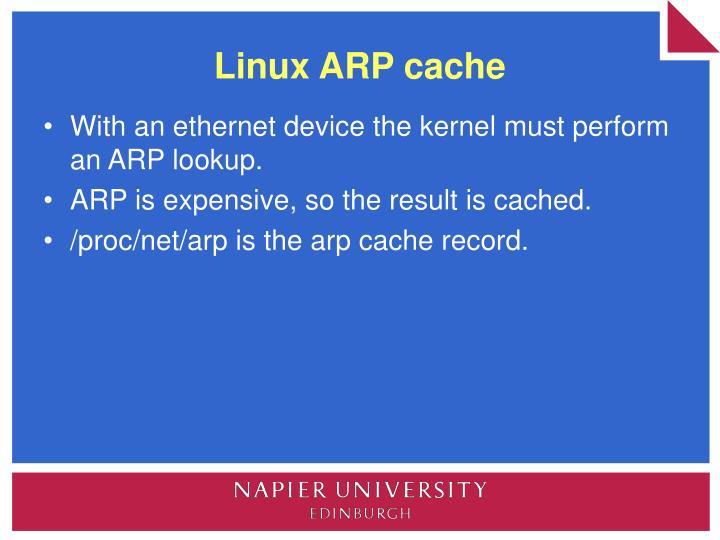 Linux ARP cache