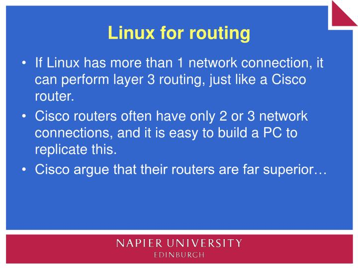 Linux for routing