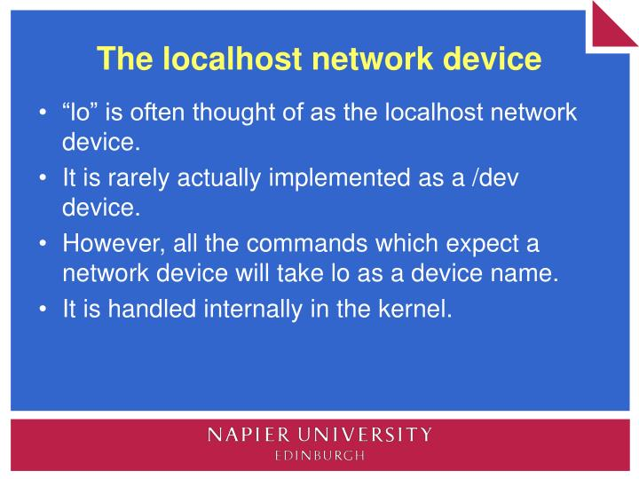 The localhost network device