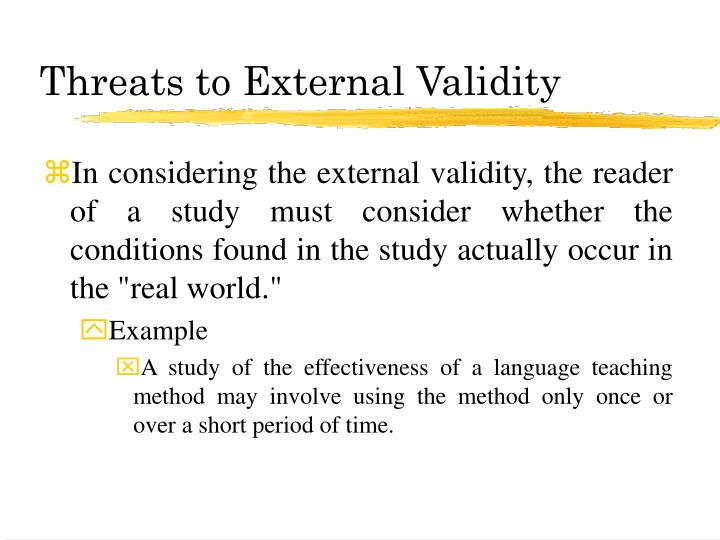 Ppt Variance Control And Threats To Validity Powerpoint