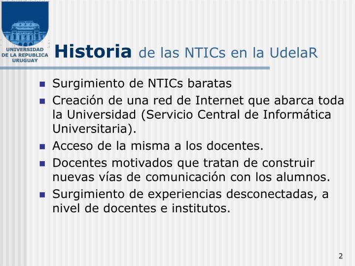 Historia de las ntics en la udelar
