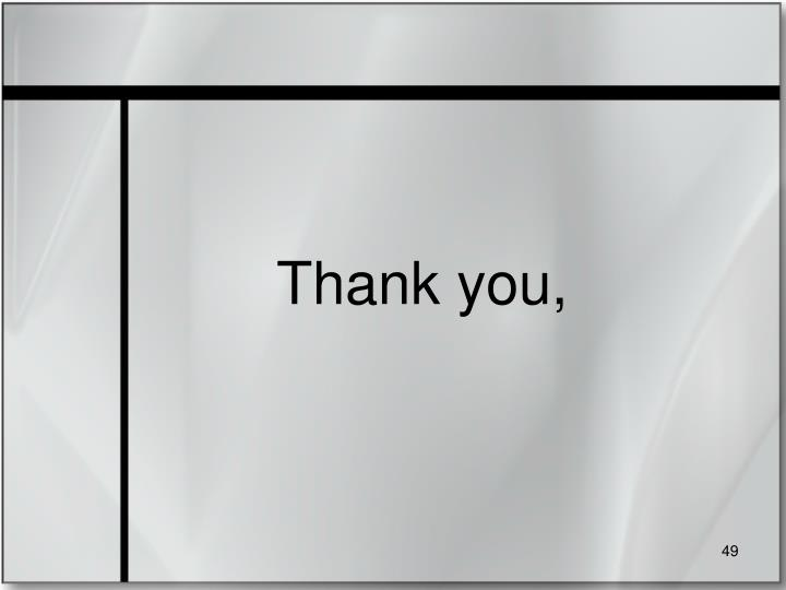 Thank you,