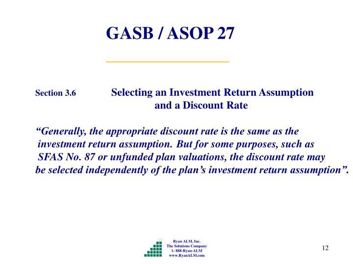 GASB / ASOP 27