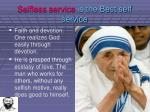 selfless service is the best self service