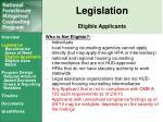 legislation eligible applicants1