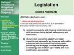 legislation eligible applicants2