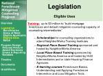 legislation eligible uses