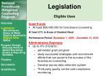 legislation eligible uses1