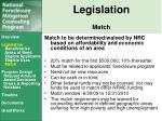 legislation match